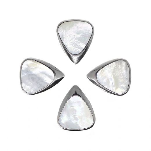 Inlay Tones Mini White Mother of Pearl 4 Guitar Picks